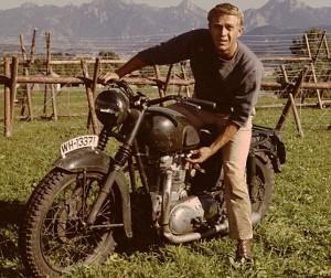 Steve McQueen motorcycle triumph